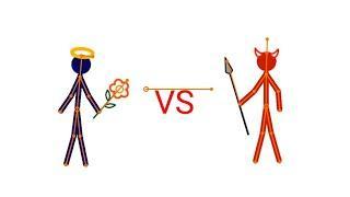 Ангел против Демона в Рисуем мультфильмы 2