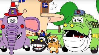 Мультики про машинки - Раскраска с Врумиз - Сборник 12 - Развивающие мультфильмы для детей
