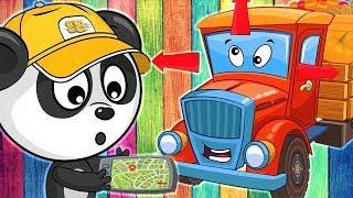 Развивающие Мультики про Машинки - Автовоз и Грузовик - Веселые Мультфильмы для Малышей