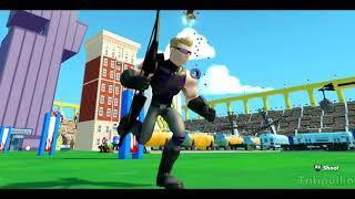 Видео игра для детей Супергерои Ястреб, Стрела играют вместе с Тачки Машинки Дисней Disney cars